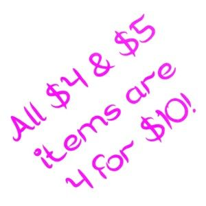 FLASH SALE!!! 4 for $10